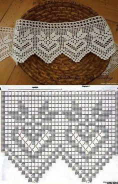 lo spazio di lilla: A gentile richiesta. schemi di sproni crochet per Celia \/ Crochet yokes diagrams for Celia \/ Patrones de Crochet Edging Patterns, Filet Crochet Charts, Crochet Lace Edging, Crochet Borders, Crochet Diagram, Thread Crochet, Crochet Designs, Crochet Doilies, Crochet Stitches