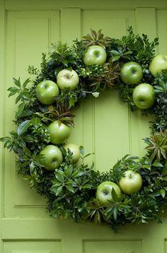 apple wreath holidays matthew mead