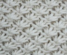 knitting stitch tutorial chart pattern: Lotus Flower Stitch: You need a stitch number multiple of 6 + 1 + 2 edge stitches. Repeat the pattern between the arrows as many times as you like. Purl all stitches on the wrong side rows etc. Work all stit Knit Purl Stitches, Knitting Stiches, Knitting Charts, Loom Knitting, Free Knitting, Crochet Motifs, Crochet Stitches Patterns, Knit Or Crochet, Stitch Patterns