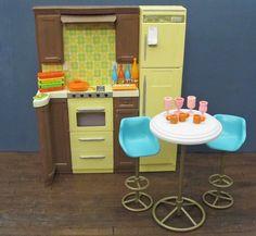 OOAK Barbie Kitchen Furniture Repainted