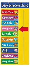 Free printable daily schedule for pocket charts. Great for routine based kids or kids with sensory issues or autism. Easy way to encourage literacy into your day too!