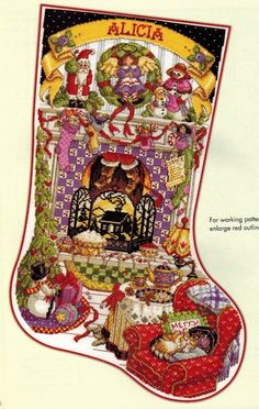 Leisure Arts Stocking Collection 2nd Edition - Donna Kooler Cross Stitch . Donna Kooler shares 14 more of her favorite cross stitch stocking designs in this seq