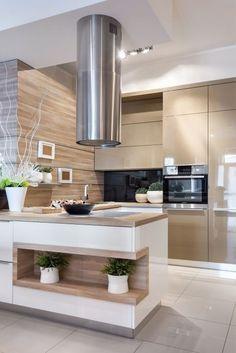 Kitchen Room Design, Modern Kitchen Design, Home Decor Kitchen, Interior Design Kitchen, Home Kitchens, Modern Kitchen Interiors, Modern Kitchen Cabinets, Handleless Kitchen, Minimalist Kitchen
