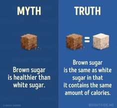 15 myths about a healthy diet you need to stop believing Health Facts, Health Diet, Health And Nutrition, Healthy Tips, Healthy Eating, Healthy Recipes, Brown Sugar Benefits, Wow Facts, Natural Health Remedies