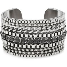 Reiss Felix Chain Detail Cuff ($66) ❤ liked on Polyvore featuring jewelry, bracelets, accessories, silver, chains jewelry, sparkle jewelry, cuff bangle, cuff jewelry and reiss