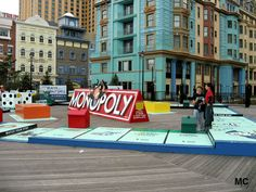 life size monopoly game board at bally's casino in atlantic city