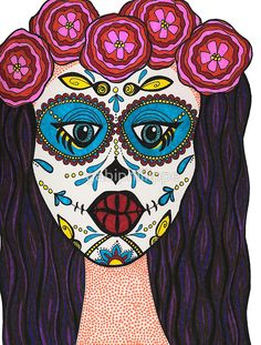 'Sugar Skull Girl' by gabiphillippe Samsung Galaxy Cases, Iphone Cases, Sugar Skull Girl, Stationeries, Drawstring Bags, Laptop Skin, Pouches, Laptop Sleeves, Tote Bags