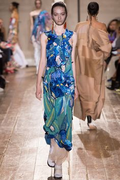 Maison Martin Margiela - AW 14/15 this dress.... is like a stained glass window. impeccable embellishment.