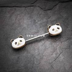 Golden Adorable Panda Nipple Barbell