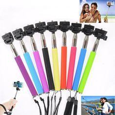 9 Colors Selfie Monopod Extendable Handheld Stick Pole Coolpix Cybershot Camera
