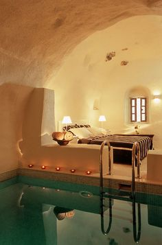 Bedroom Spa Cave - yes, has good feel with the tea lights, like much the towels rolled up in the large bowl and the small oval window is wonderful. A-hem, yes, it works for me much.