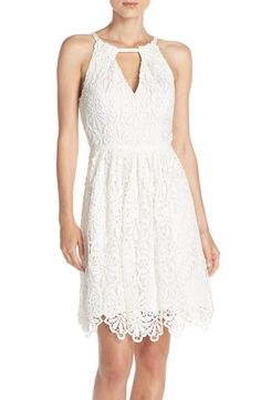 Free shipping and returns on Adrianna Papell Lace Fit & Flare Dress at Nordstrom.com. Dense lace flows from a sophisticated sundress that's gathered at the keyhole neck and flared waistline.