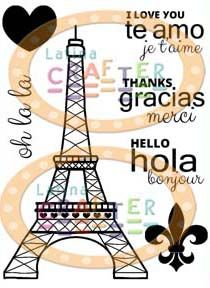 """New July Stamp set from #latinacrafter  """"Oh la la"""" #EiffelTower #Paris"""