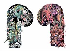 Dragon Tattoos For Men, Dragon Sleeve Tattoos, Japanese Dragon Tattoos, Dragon Tattoo Designs, Tattoo Sleeve Designs, Tattoo Japanese Style, Traditional Japanese Tattoos, Japanese Tattoo Designs, Samurai Tattoo Sleeve