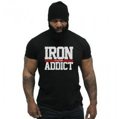 CT Fletcher - Iron Addict Tee Weight Lifting Motivation, Fitness Motivation, Motivation Quotes, Ct Fletcher Shirts, Musclepharm Workouts, Muscle Shirts, Gym Shirts, Workout Tops, Workout Gear