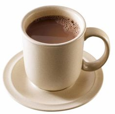 GORĄCA CZEKOLADA: łyżka mleka w proszku, szklanka mleka, 2 łyżki kakao, słodzik