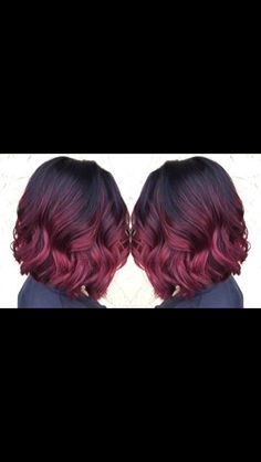Burgundy/ red violet ombre