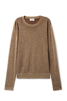 <p>The Tania Lurex Sweater makes your outfit special with its light- catching glittery material. It has a round banded neck, a regular fit and ribbed finish