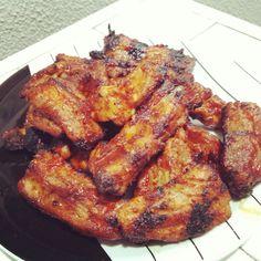 돼지갈비 Doejigalbi, costela de porco ao molho gochujan