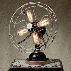 Fan... are those Edison bulbs instead of fan blades?