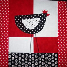 polka dot chicken quilt block!