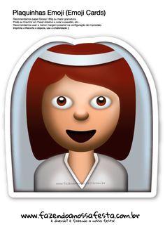 Plaquinhas Emoji Whatsapp Noiva