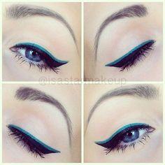 black and color eyeliner
