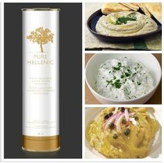 "Pure Hellenic Summer Appetizers:Beloved ""tzatziki"", celebrated ""fava"" and the Greek version of babaganoush-the eggplant salad."