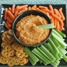 Roasted Red Pepper Hummus HealthyAperture.com