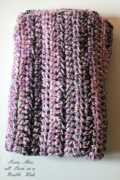 CHUNKY SPEED AFGHAN ~ Use a Q size hook and 3 strands together!