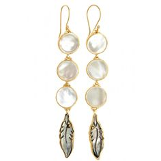 LAST CHANCE to enjoy an additional 60% off sale prices for our Summer Escape Sale! Mother of Pearl Feather Drop Earrings | Calypso St. Barth