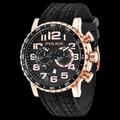 Police rose gold powerslide watch 7a3370306b