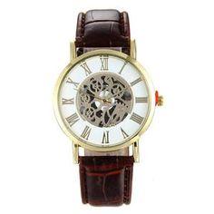 Fashion New LuxuryMen Hollow Quartz Watch Military Watch Relogio Male Montre Watch Men Relojes Dial Analog Rome Wristwatch
