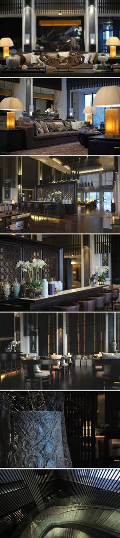 Nice interior photographs and asian-inspired upscale design.