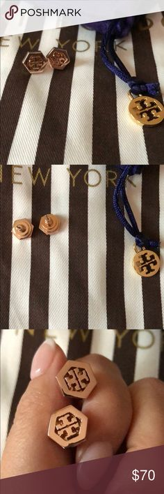 Tory Burch Gold Studs Authentic Tory Burch Gold Earrings. They were a gift but not my style, literally like new and will come with pouch! Open to trades and offers! Tory Burch Jewelry Earrings