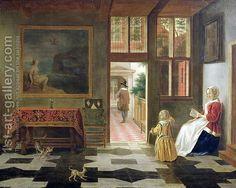Dutch Interior by (Elinga) Pieter Janssens
