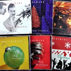 #PotteryBarn #Christmas 6 Cd Lot +Huge Bonus Jazzy Classic Hip Cool Holidays Xmas