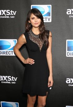 nina dobrev in another gorgeous black number. #LittleBlackDress