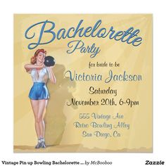 Vintage Pin up Bowling Bachelorette Party