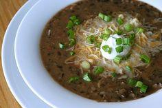 Black Bean and Salsa Soup–Annie's Eats