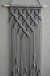 Amazon.com: Macrame Wall Hanging. (Grey): Home & Kitchen