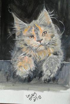 Wow, beautiful #cat #art