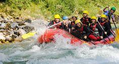 Rafting in Österreich auf der Salza in der Steiermark. Ein super Teamspaß im Boot. Rafting, Alps, Adventure