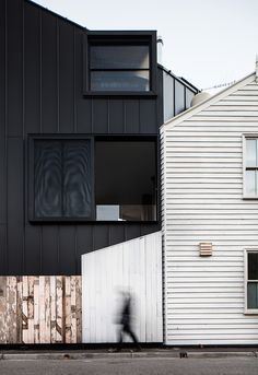 wedge-shaped family home inserted into melbourne neighborhood by OOF! architecture