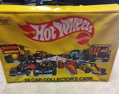 Mattel HOT WHEELS 24 Car Collector's Case 8227-6269/Free Shipping/Nice Condition