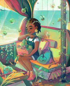 Black Love Art, Black Girl Art, Art Girl, Black Girls, Black Women, Black Cartoon, Cartoon Art, Cartoon Design, Girl Cartoon
