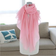 NWOT light pink scarf NWOT big light pink scarf! Lots of material for you to wear it in multiple ways! Not sure of the material but it is very thin. Accessories Scarves & Wraps