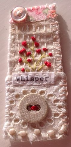 Marilyn Stephens art. Textile Jewelry, Fabric Jewelry, Textile Art, Small Quilts, Mini Quilts, Quilting Projects, Sewing Projects, Embroidery Patterns, Hand Embroidery