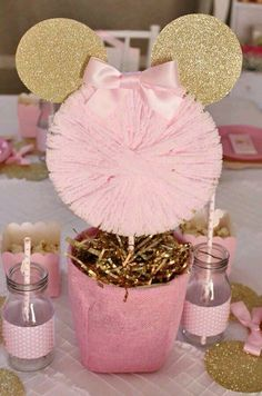 Detalles Minnie Birthday Mouse Party Pink Mickey