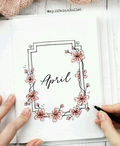 41 Bullet Journal Monthly Cover Ideas You Must Try - Its Claudia G - If you're . - 41 Bullet Journal Monthly Cover Ideas You Must Try – Its Claudia G – If you're looking for b - Bullet Journal Dividers, April Bullet Journal, Bullet Journal Headers, Bullet Journal Lettering Ideas, Bullet Journal Cover Page, Bullet Journal Banner, Bullet Journal Notebook, Bullet Journal Layout, Journal Ideas
